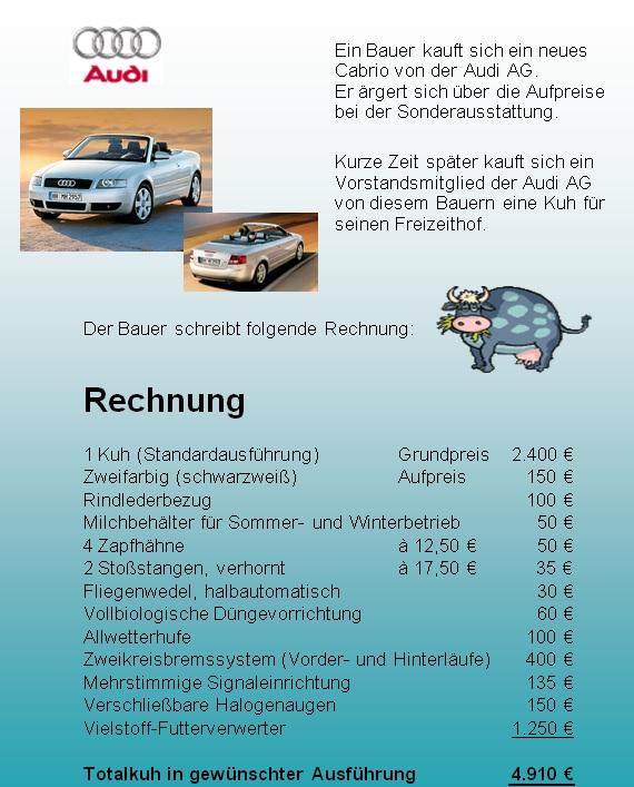 Bauernschlaue Audi