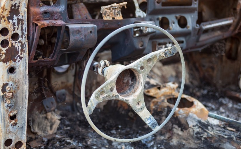 Autoentsorgung mal anders – Smart in den Allgäuer Bergen abgefackelt